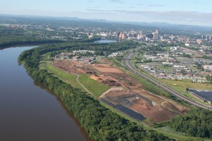 Hartford Landfill looking south with city skyline august 2008
